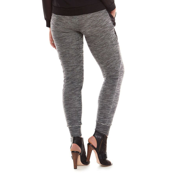 Elie Tahari DesigNation Gray & Black French Terry Jogger Pants L