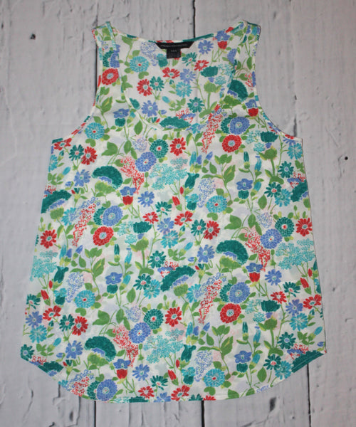French Connection Floral Wild Flower Sateen Tank S 6