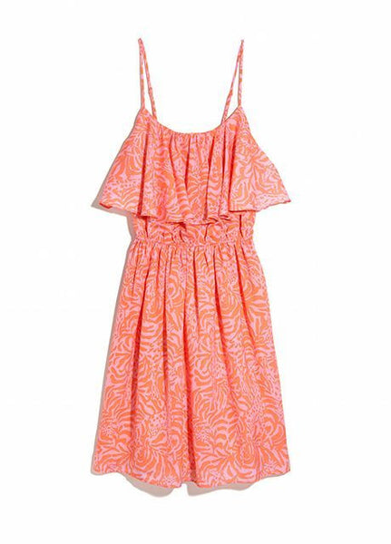 Lilly Pulitzer Target Giraffing Me Crazy Satin Flounce Ruffle Top Dress M