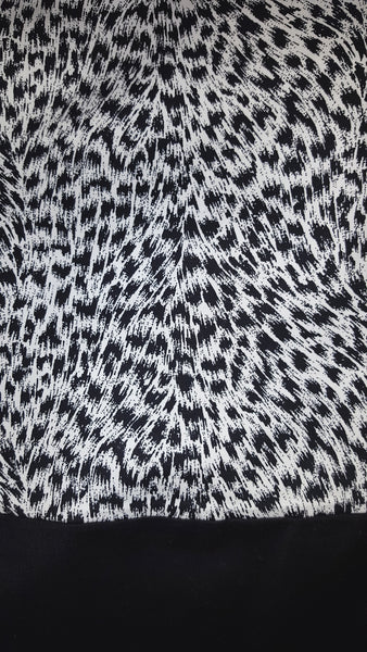 MICHAEL KORS Colorblock Animal Leopard Mini Skirt Black
