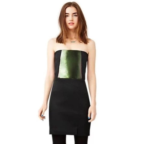 Kate Spade Saturday Strapless Neoprene Panel Statement Dress S 4