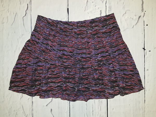 Free People Party Animal Pleated Drop Waist Mini Skirt Purple Size S 4/6