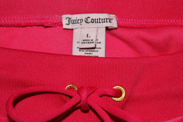 Juicy Couture Velour Embroidered Jogging Tapered Sweat Pants Pink L