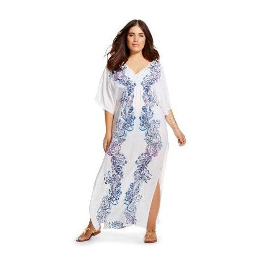 Lilly Pulitzer for Target Kaftan Cover Up/Dress Wavepool Print Plus Size