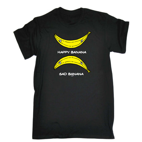 123t Kids Funny Tee - Happy Banana Sad Banana - Childrens Top T-Shirt T Shirt