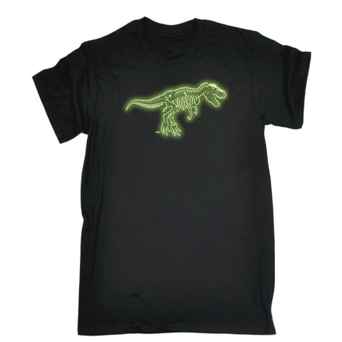 123t Funny Tee - Trex Bones Adult And Kids Glow In The Dark - Mens T-Shirt