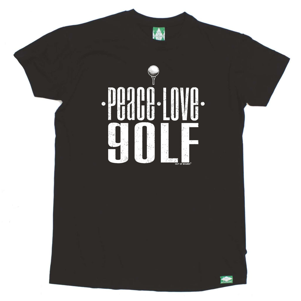 Out Of Bounds Golfing Tee - Peace Love Golf - Mens T-Shirt