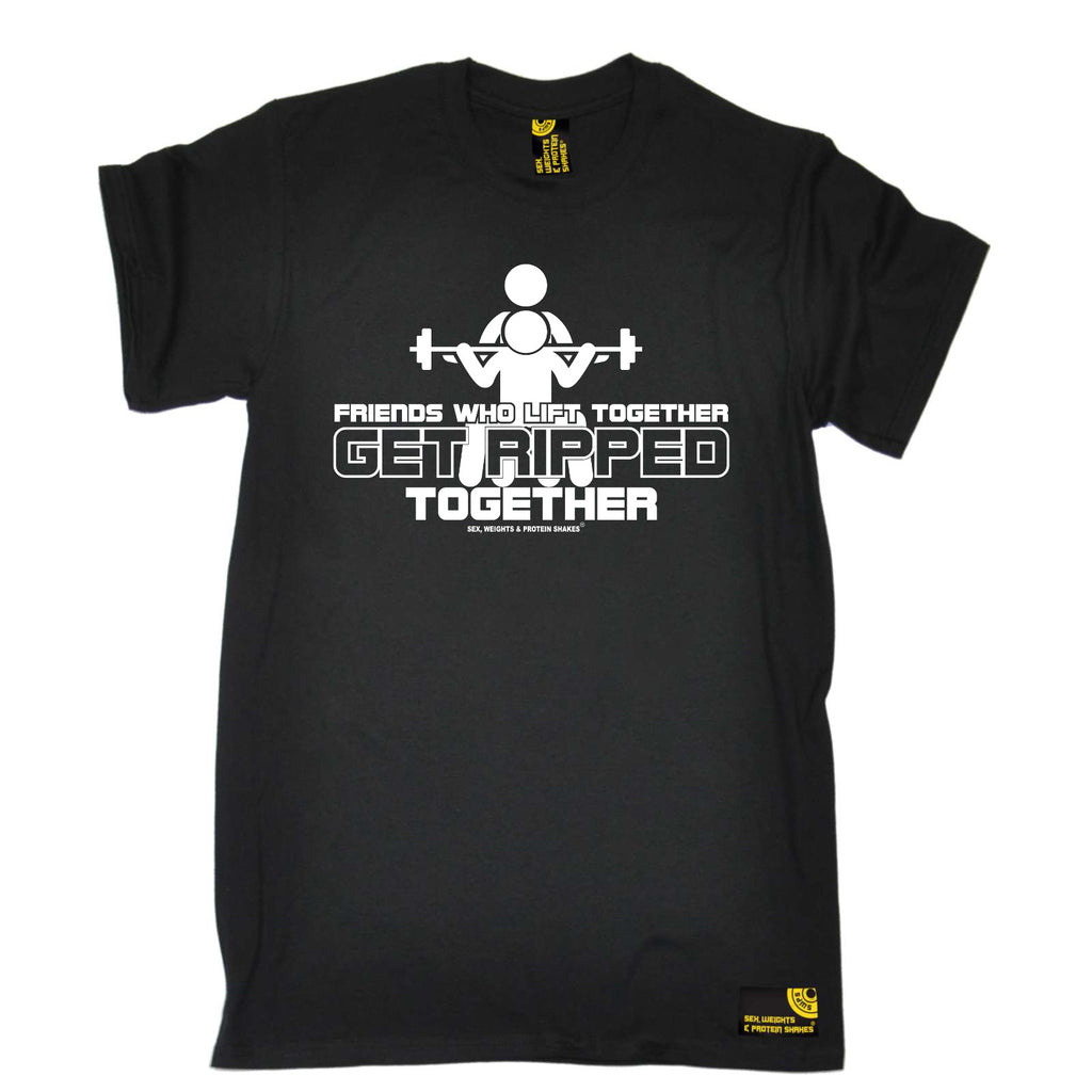 Sex Weights and Protein Shakes Gym Bodybuilding Tee - Friends Who Lift Together - Mens T-Shirt
