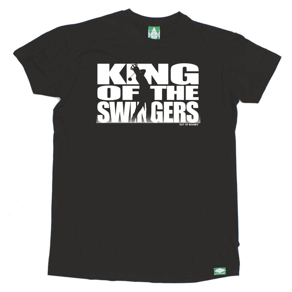 Out Of Bounds Golfing Tee - King Of The Swingers - Mens T-Shirt