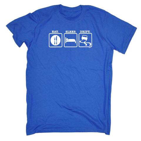 123t Funny Tee - Eat Sleep Drift - Mens T-Shirt