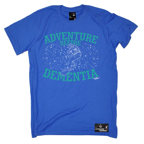 Powder Monkeez Mens - Pm Board Colour Adventure Before Dementia - Apres Skiing T-SHIRT