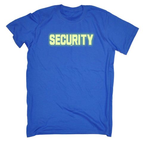 123t Funny Tee - Security Glow In The Dark - Mens T-Shirt