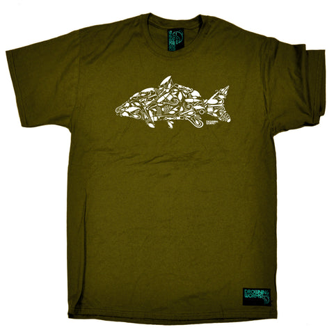 Drowning Worms Fishing Tee - Fishing Hook Carp - Mens T-Shirt