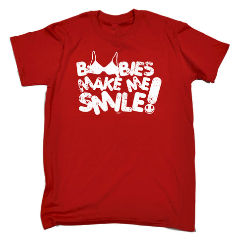 123t Funny Tee - Boobies Make Me Smile - Mens T-Shirt