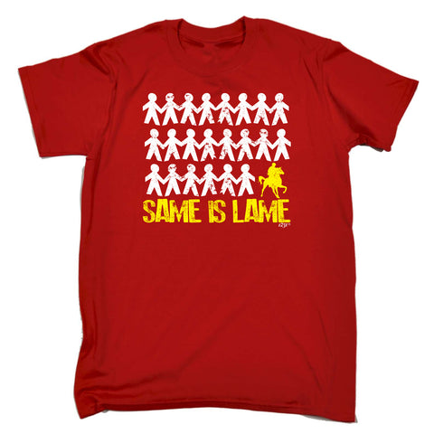 123t Funny Tee - Same Is Lame Horse Ride - Mens T-Shirt