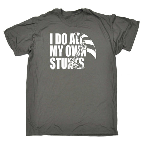 123t Funny Tee - Kitesurf I Do All My Own Stunts - Mens T-Shirt