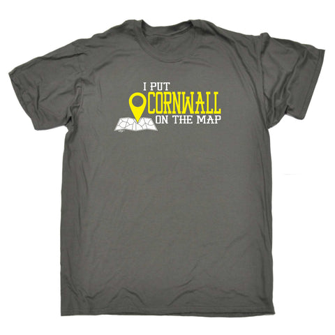 123t Funny Tee - Cornwall I Put On The Map - Mens T-Shirt