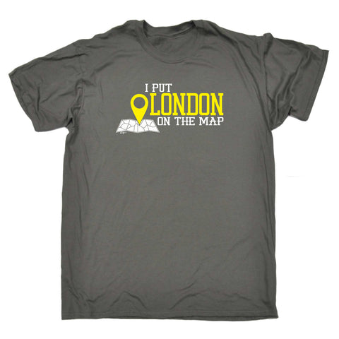 123t Funny Tee - London I Put On The Map - Mens T-Shirt