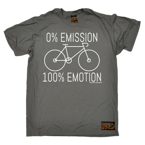 Ride Like The Wind Mens - Rltw 0 Emmission 100 Emotion - Cycling T-SHIRT