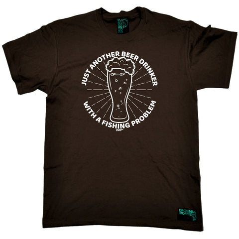 Drowning Worms Fishing Tee - Just Another Beer Drinker With A Fishing Problem - Mens T-Shirt