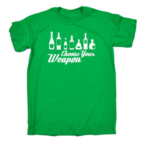 123t Funny Tee - Alcohol Choose Your Weapon - Mens T-Shirt
