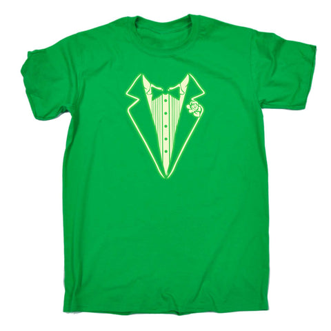 123t Funny Tee - Tuxedo Glow In The Dark - Mens T-Shirt