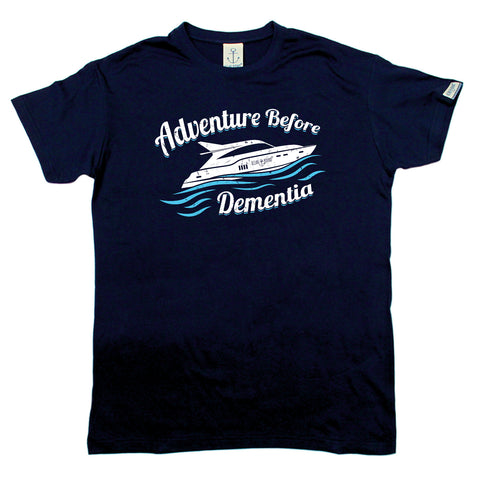 Ocean Bound Sailing Tee - Speedboat Adventure Before Dementia - Mens T-Shirt