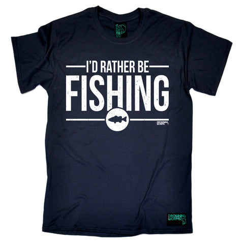 Drowning Worms Mens - Dw Rather Be Fishing - Fishing T-SHIRT