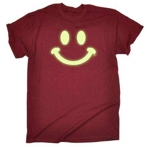 123t Funny Tee - Smile Face Glow In The Dark - Mens T-Shirt