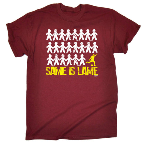 123t Funny Tee - Football Same Is Lame - Mens T-Shirt