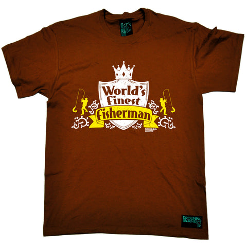 Drowning Worms Mens - Dw Worlds Finest Fisherman - Fishing T-SHIRT