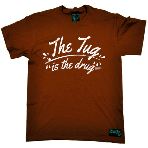 Drowning Worms Mens - Dw The Tug Is The Drug - Fishing T-SHIRT