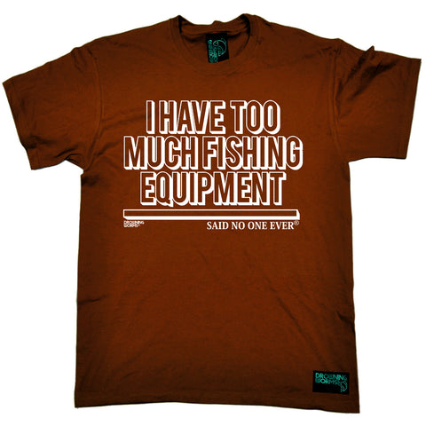 Drowning Worms Mens - Dw Too Much Fishing Equipment - Fishing T-SHIRT