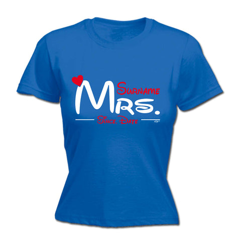 123t Womens - Mrs Surname Since -  T-SHIRT