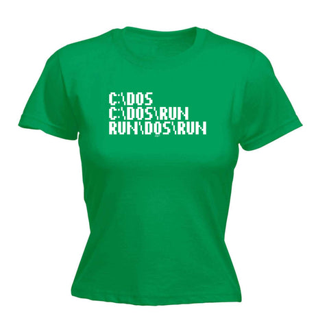 123t Funny Tee - C Dos Run -  Womens Fitted Cotton T-Shirt Top T Shirt