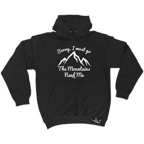 Powder Monkeez Skiing Snowboarding Tee - Sorry I Must Go The Mountains Need Me -  Womens Fitted Cotton T-Shirt Top T Shirt