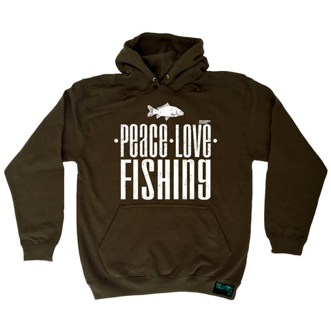Drowning Worms - Dw Peace Love Fishing - Fishing HOODIE