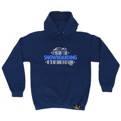 Powder Monkeez - Pm Dont Like Snowboarding - Apres Skiing HOODIE