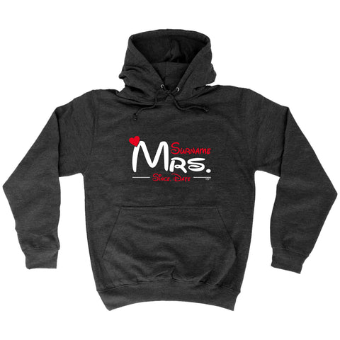 123t - Mrs Surname Since -  HOODIE