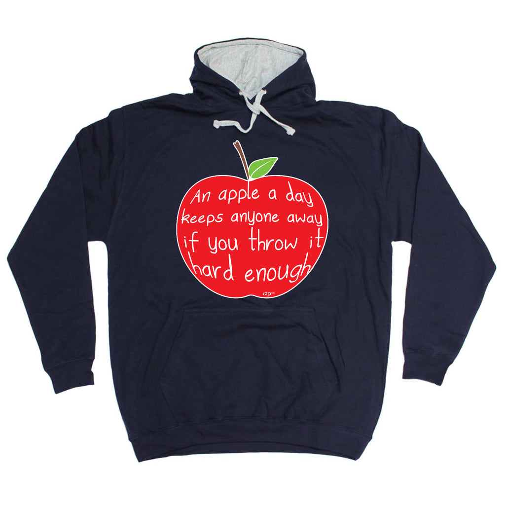 123t - An Apple A Day Keeps Anyone Away -  SWEATSHIRT
