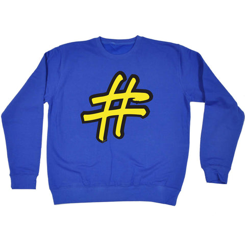 123t Funny Kids Sweatshirt - Hashtag - Sweater Jumper