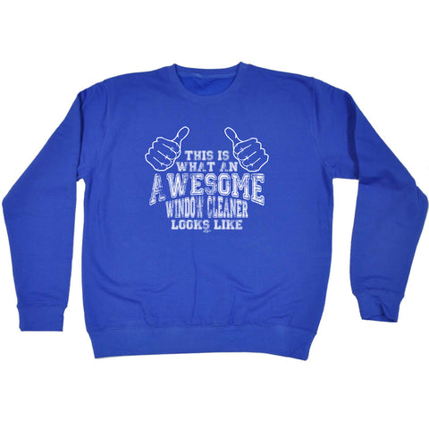 123t Funny Sweatshirt - Awesome Window Cleaner - Sweater Jumper