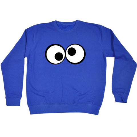 123t Funny Kids Sweatshirt - Googley Eyes - Sweater Jumper