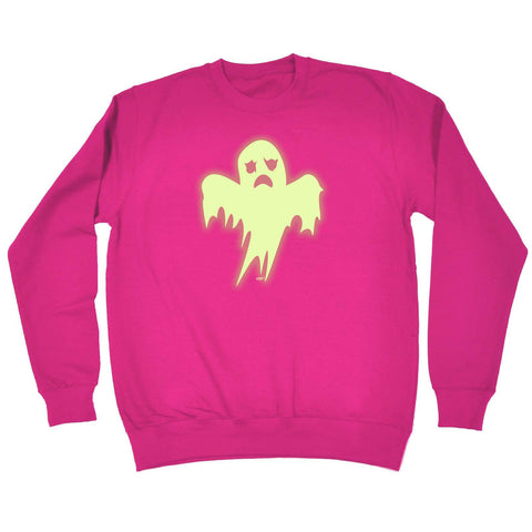 123t Funny Kids Sweatshirt - Ghost Glow In The Dark - Sweater Jumper