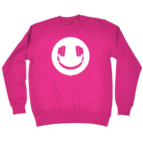 123t Funny Kids Sweatshirt - Headphone Dj Smile - Sweater Jumper