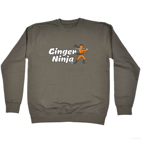 123t Funny Kids Sweatshirt - Ginger Ninja - Sweater Jumper