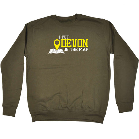 123t Funny Sweatshirt - Devon I Put On The Map - Sweater Jumper