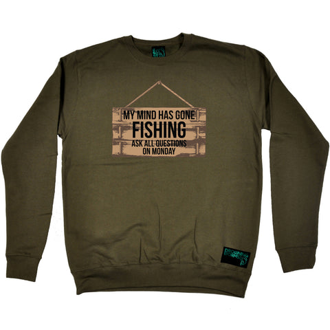 Drowning Worms Fishing Sweatshirt - My Mind Has Gone Fishing - Sweater Jumper