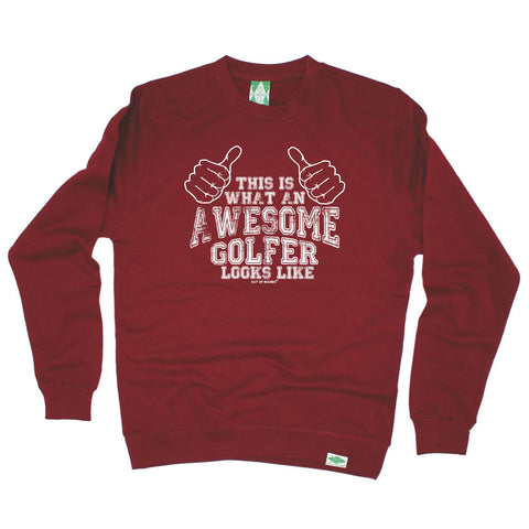 Out Of Bounds Golfing Sweatshirt - This Is Awesome Golfer - Sweater Jumper