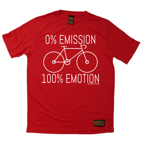 Ride Like The Wind Mens - Rltw 0 Emmission 100 Emotion - Cycling DRYFIT PERFORMANCE T-SHIRT